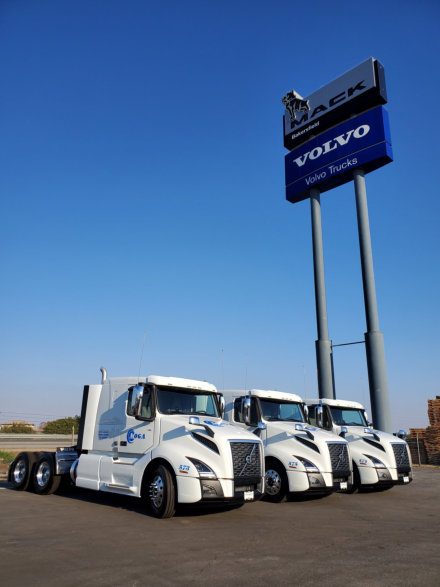 a group of trucks